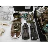 A quantity of mixed sundries including door knocker and ships bell