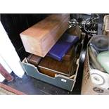 A quantity of assorted boxes including a Victorian brass bound sewing box