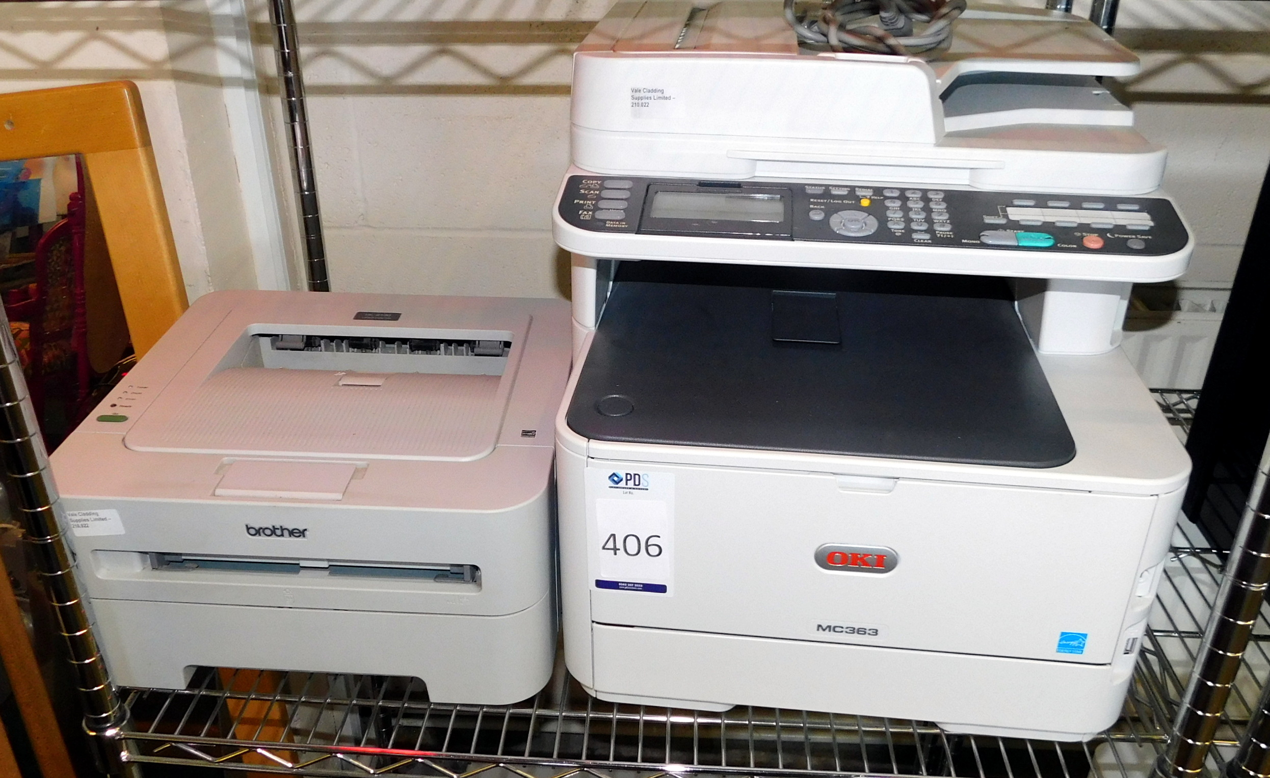 Los 406 - OKI MC363 Multi Format & Brother HL-2130 Printers (Located Stockport – See General Notes for Full