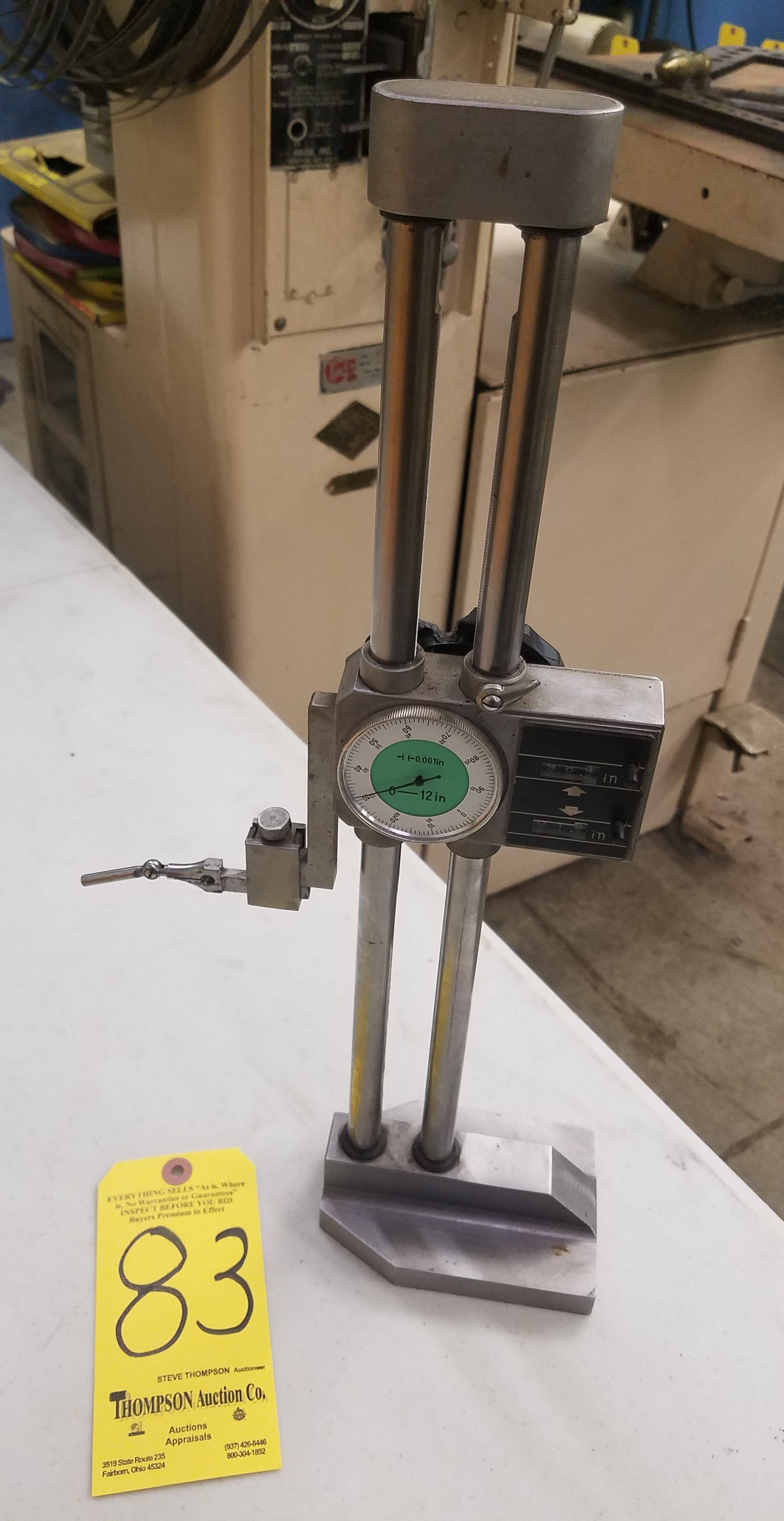 Lot 83 - 12 Inch Dial Height Gage