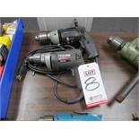 """LOT - (2) 1/2"""" DRILLS: (1) PORTER CABLE #6614 EHD AND (1) BLACK & DECKER #1180"""