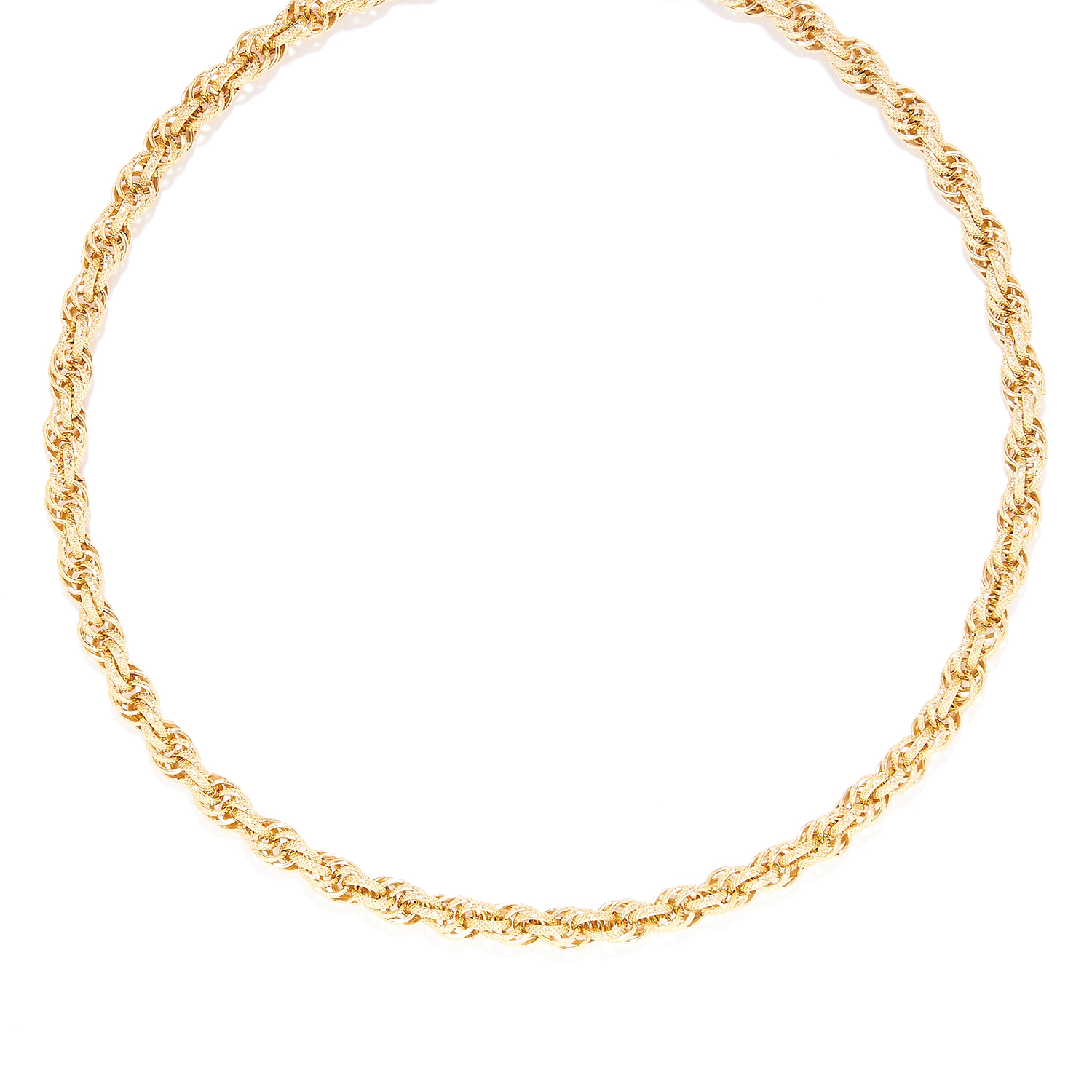 Los 13 - FANCY LINK CHAIN NECKLACE unmarked, 78cm, 29.8g.