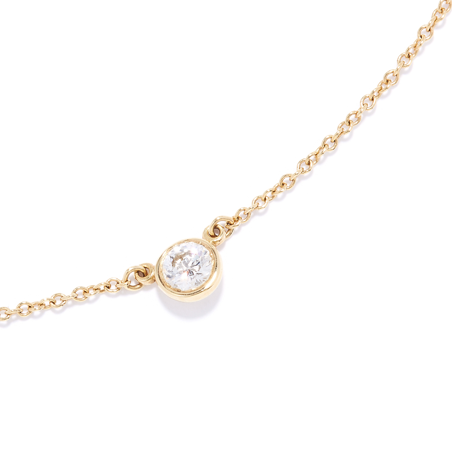 Los 57 - 'DIAMONDS BY THE YARD' PENDANT, ELSA PERETTI FOR TIFFANY & CO in 18ct yellow gold, set with a