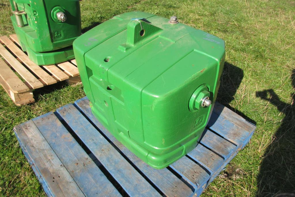 John Deere Block : John deere kg front weight block