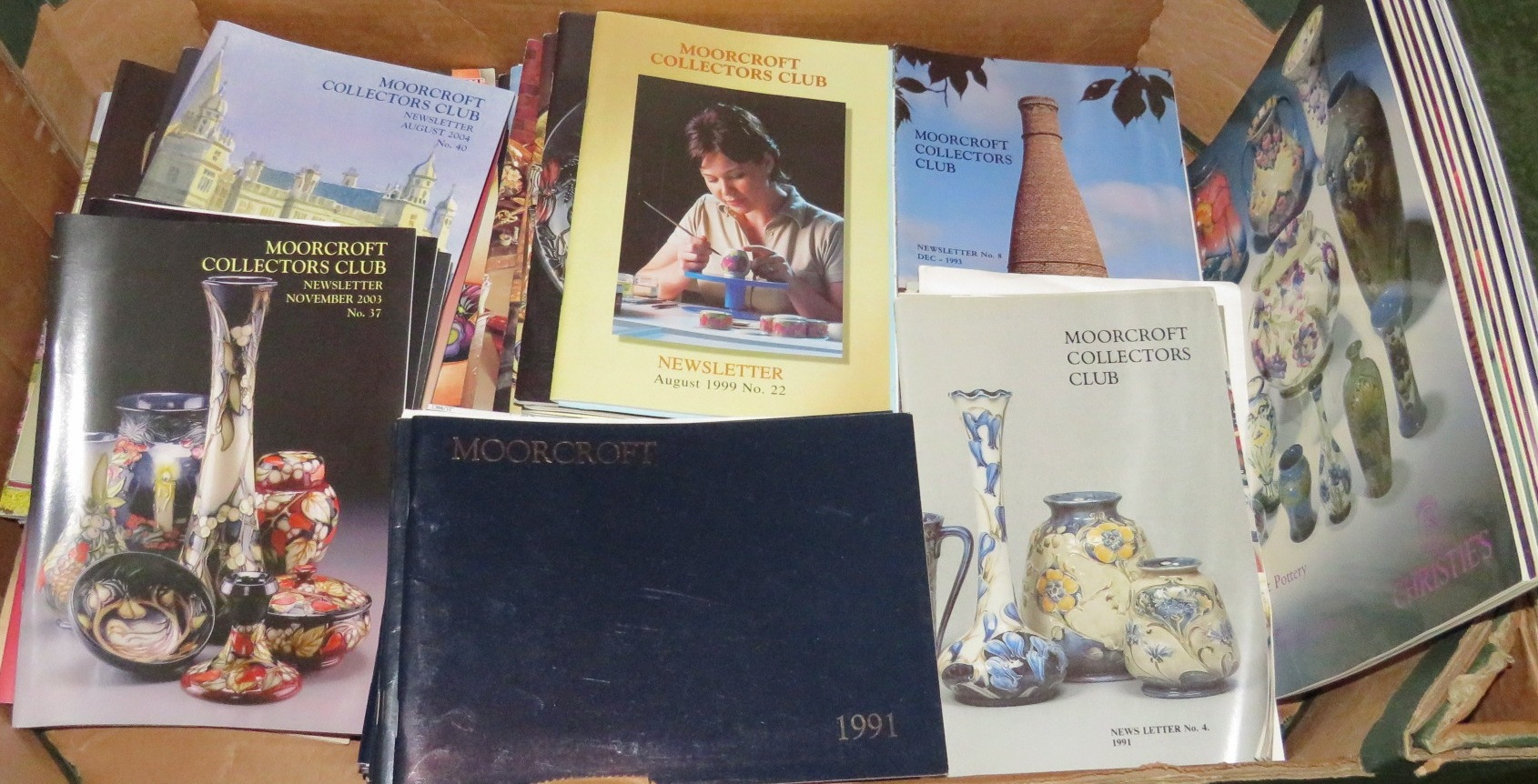 Lot 36 - Forty eight editions of Moorcroft Collectors Club Newsletters (No 4 1991 to No 52 2007), seventeen