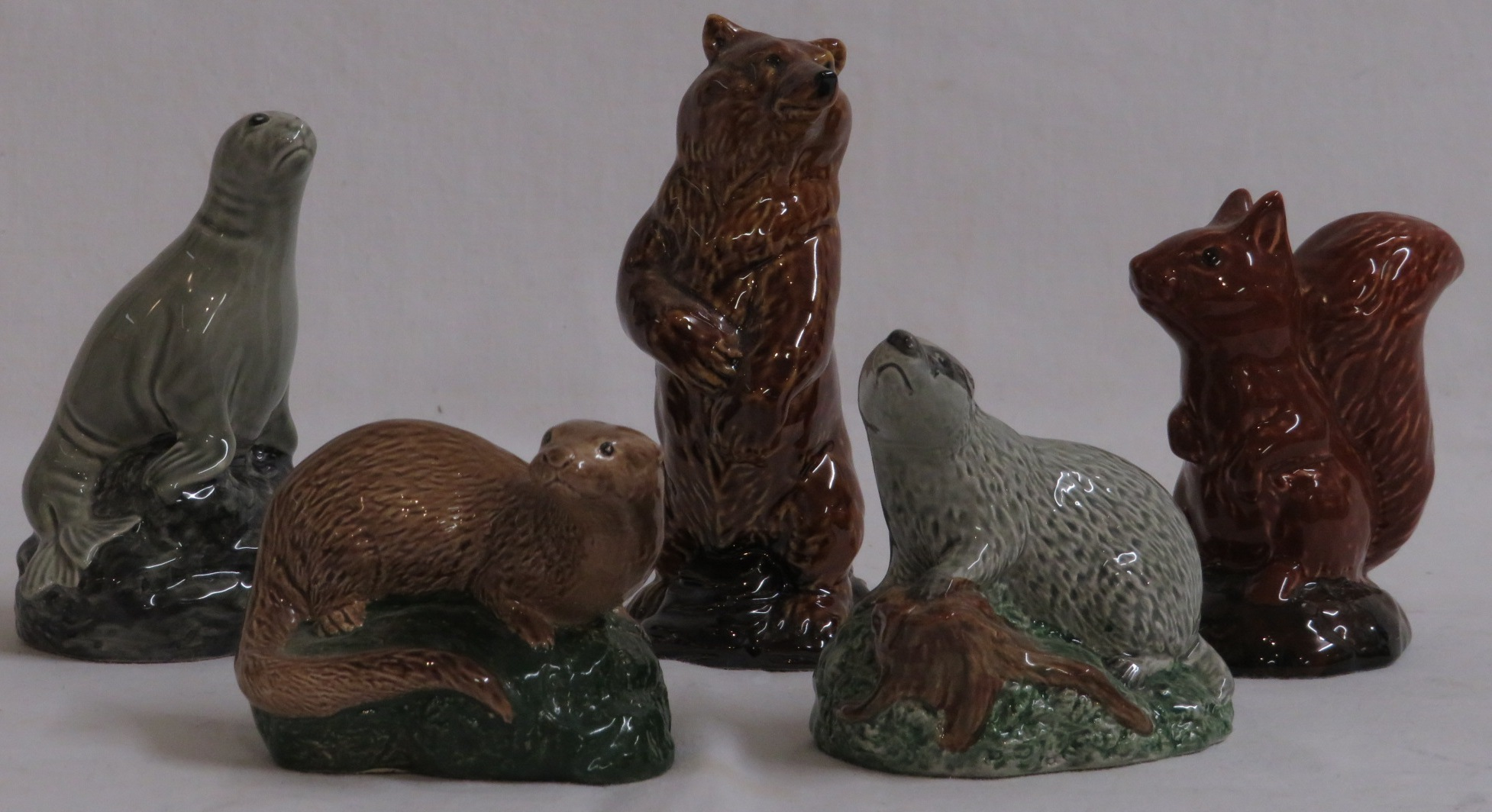 Lot 60 - Three Beswick Whyte & Mackay 50ml whisky decanters modelled by D. Lyttleton as animals with