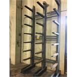 (2) Jarke Triple Column Single Sided Cantilever Raw Material Racks