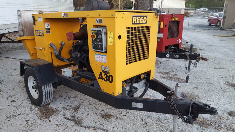 Reed Model A30 HP Rockmaster Trailer Mounted Concrete Pump, s/n