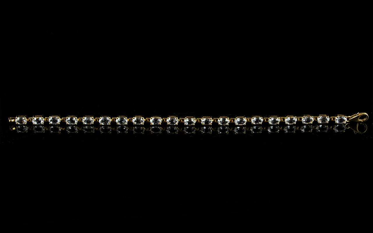 Lot 170 - White Topaz And Gold Plate Contemporary
