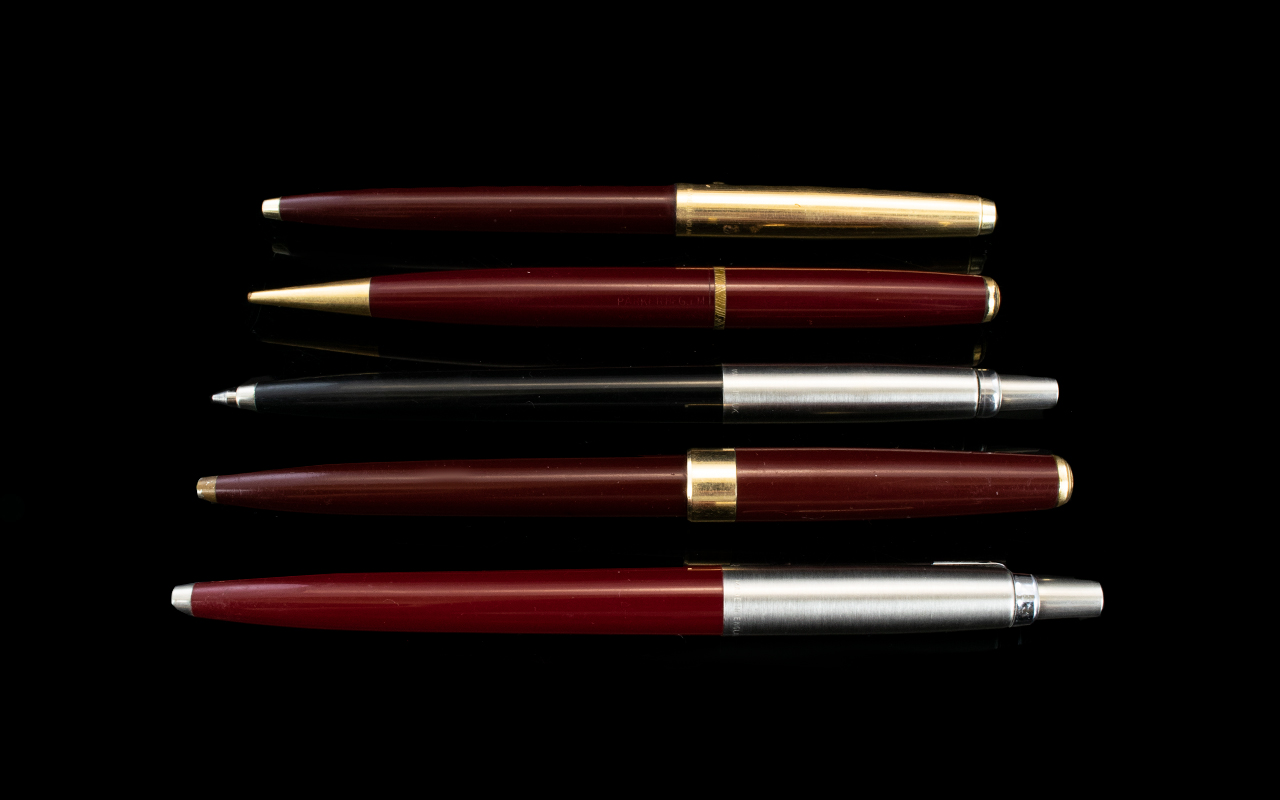 Lot 180 - A Collection of Parker Ballpoint Pens an
