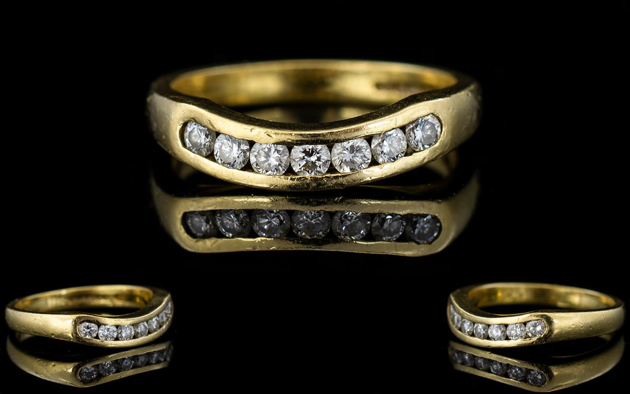 Lot 31 - Ladies - Nice Quality 18ct Gold Diamond
