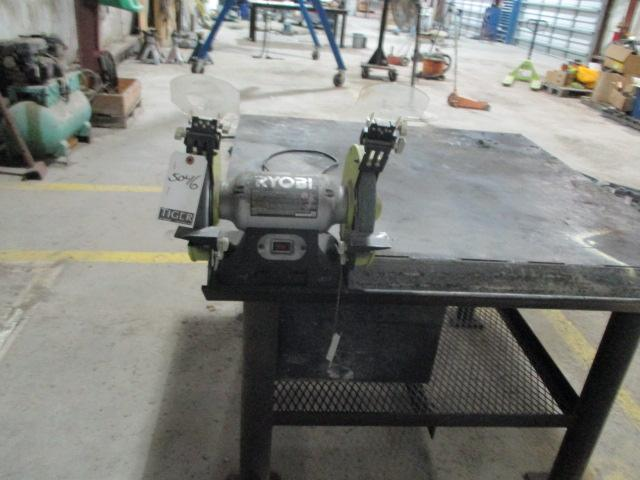 Bench Grinder w/Steel Table