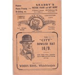 Lot 587 - HULL - LEICESTER 1926 Hull programme for friendly v Leicester, 8/4/1926, Hull Hospitals Cup,