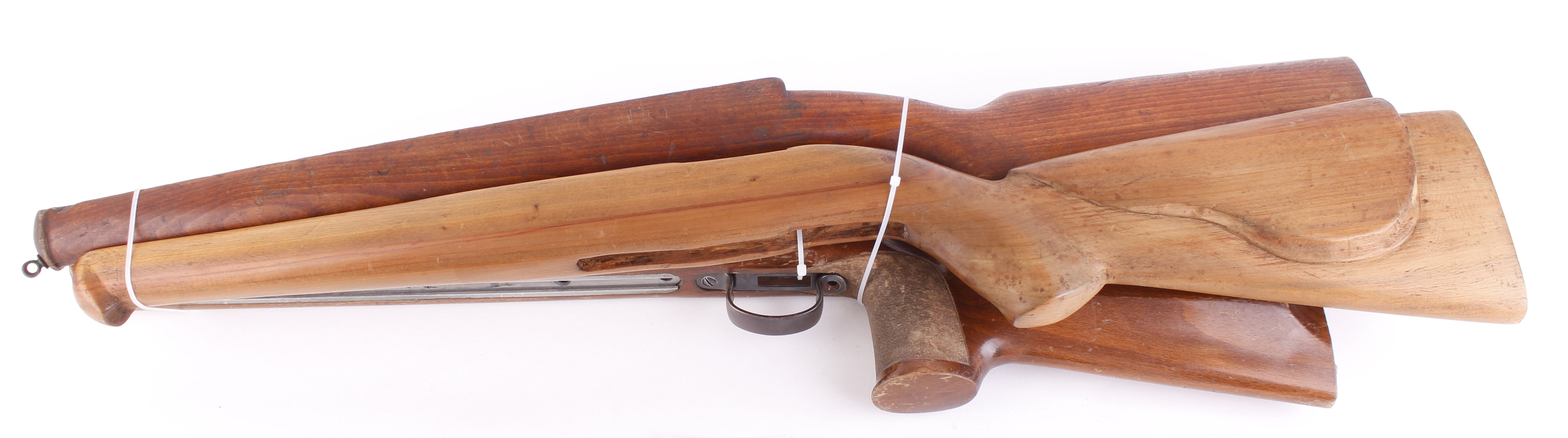 Lot 35 - Three rifle stocks: Anschutz target, Mauser pre-war and full bore (3)
