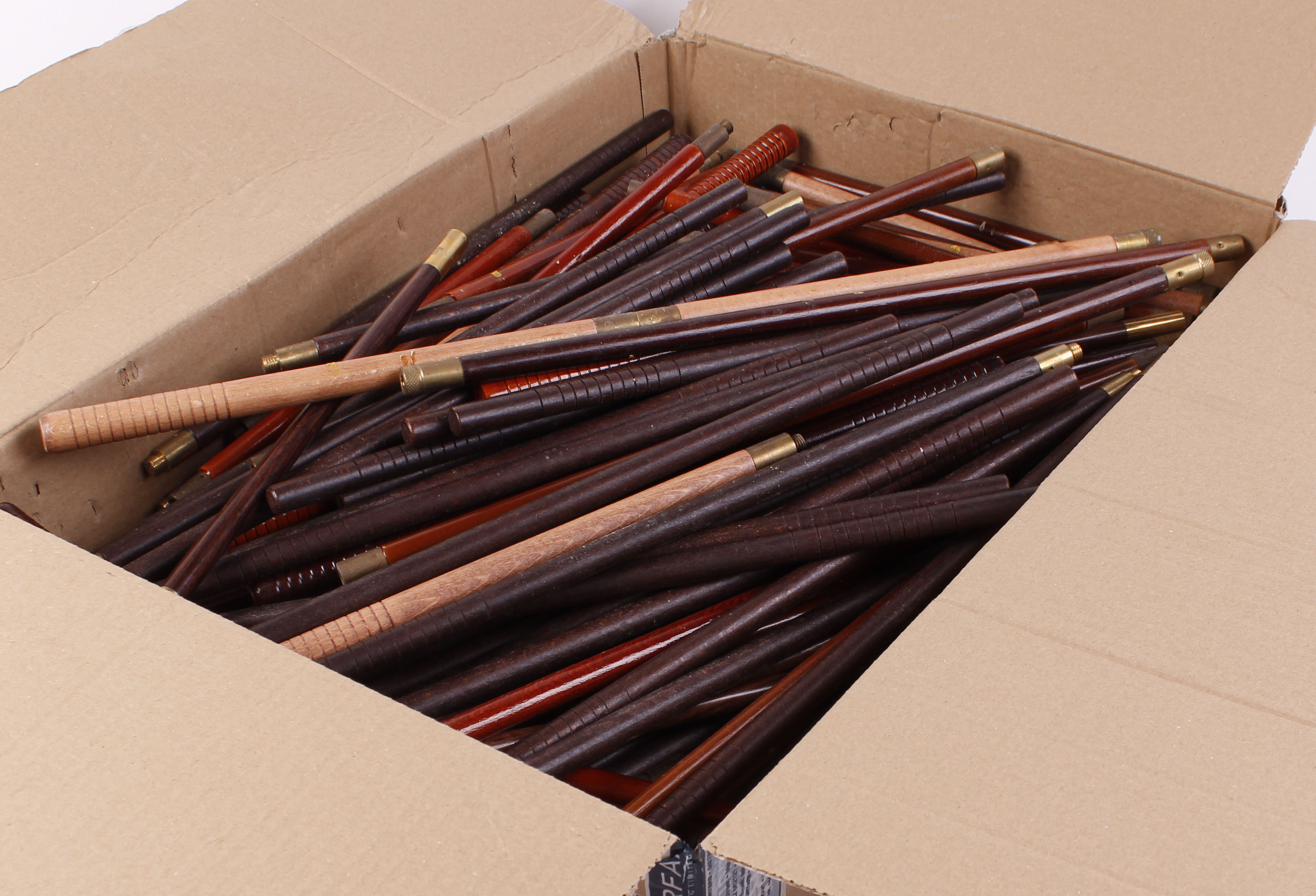 Lot 13 - Large quantity of wooden cleaning rods