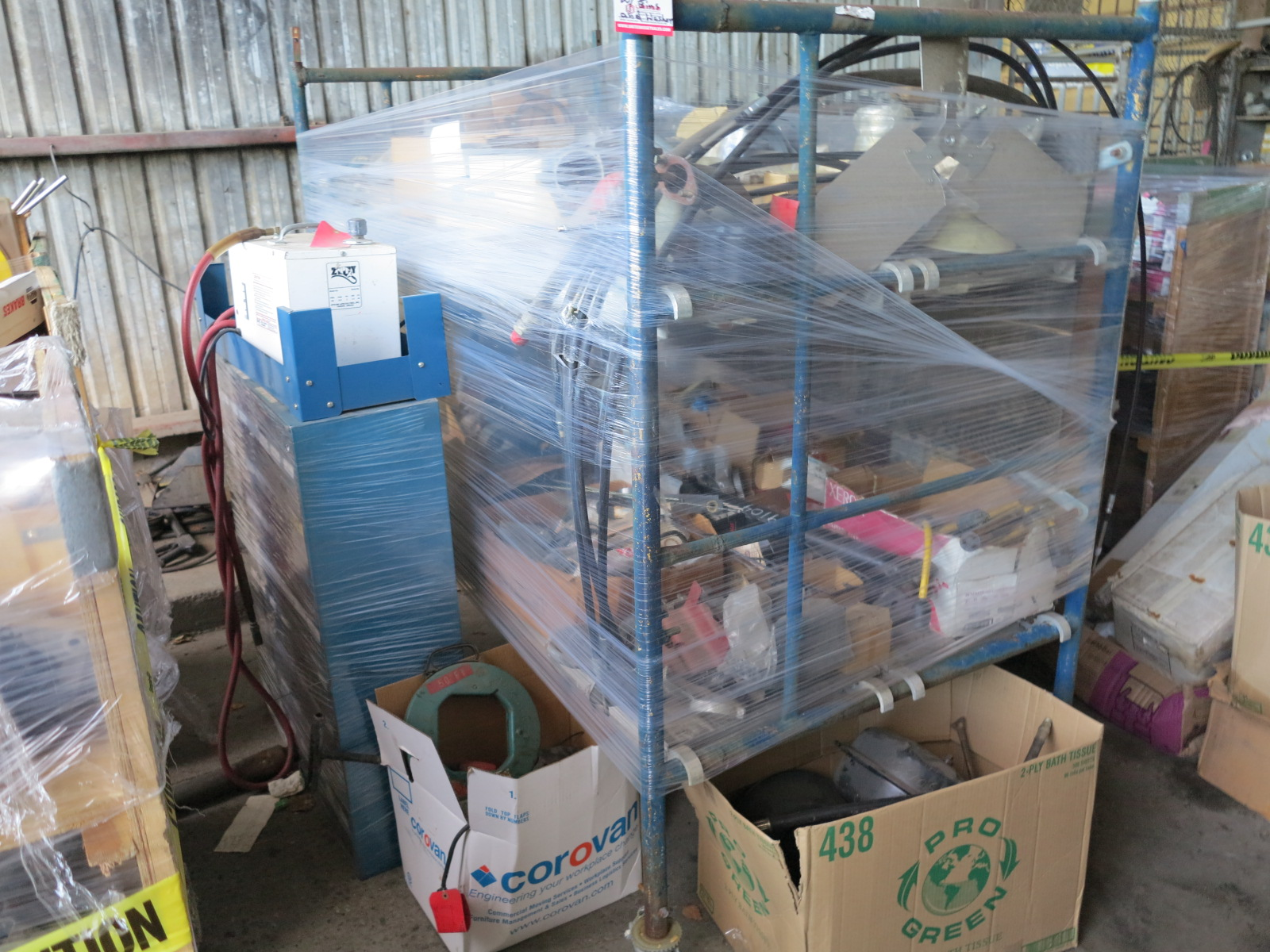 Lot 8 - LOT - SCAFFOLDING, PRESSURE WASHER (OUT OF SERVICE), PARTS BIN AND MISC ITEMS