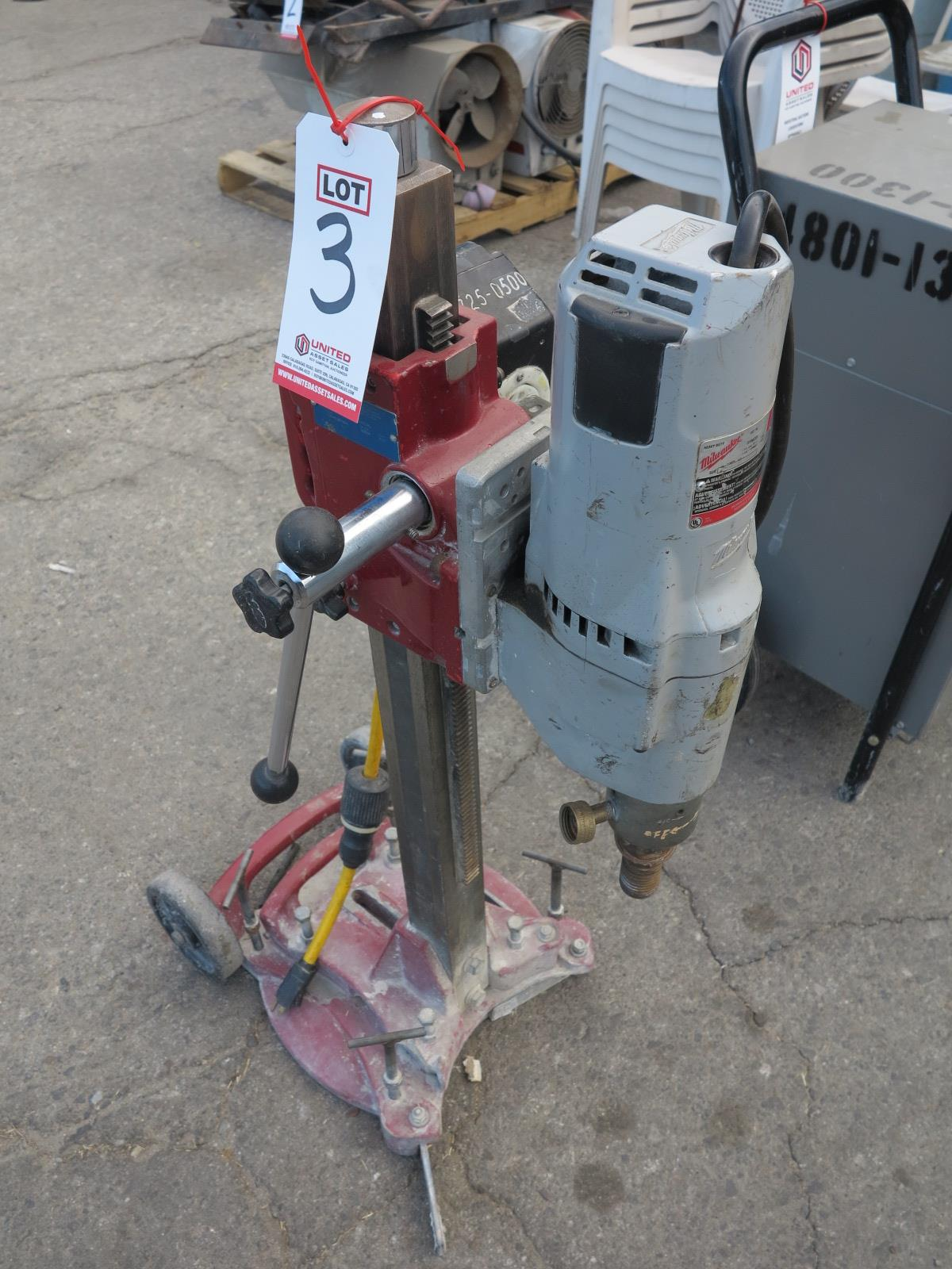Lot 3 - MILWAUKEE CORE DRILL W/ STAND