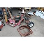 LOT - TANK CART, FORKLIFT BARREL CLAMP, SMALL EQUIPMENT TRAILER, OUT OF SERVICE