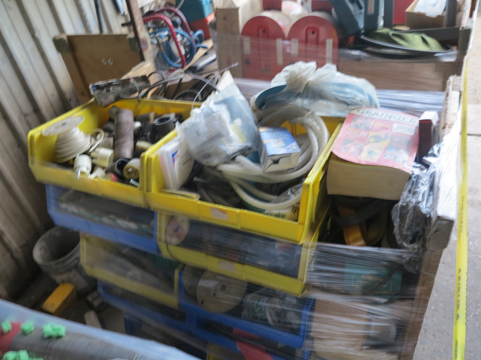 Lot 11A - LOT - (5) CARTS TO CONTAIN: AUTOMOTIVE, PLUMBING, ELECTRICAL, SANDPAPER, FLOOR BUFFING PADS,