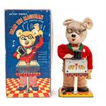 Bear The Magician: A boxed mid-20th century, battery operated, tinplate, Bear the Magician with