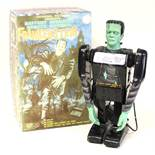 Frankenstein: A boxed 1950's battery operated, remote control tinplate, Frankenstein, Made by Marx