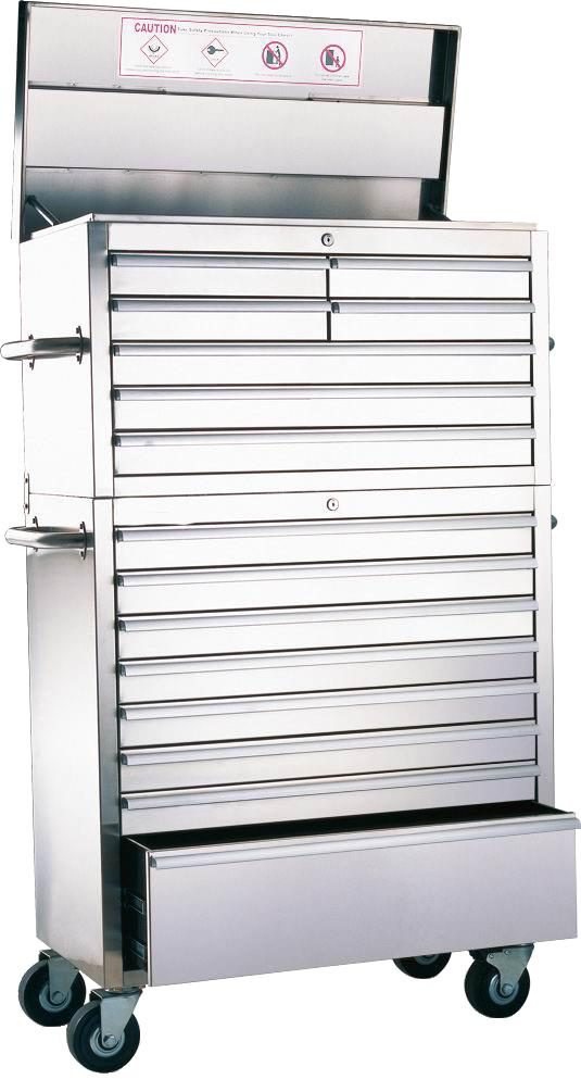 Lot 65 - 36 inch 15 draw stainless steel storage unit 915mm W x 1550mm H 460mm D NEW and BOXED Includes: