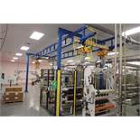 FHS overhead crane system, 30 ft. long x 152 in. tall x 126 in. wide, (2) manual slide 2000 lb