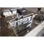 Stork Texwrap transfer conveyor, Model , high volume static eliminator, white vinyl belt, 60 in.