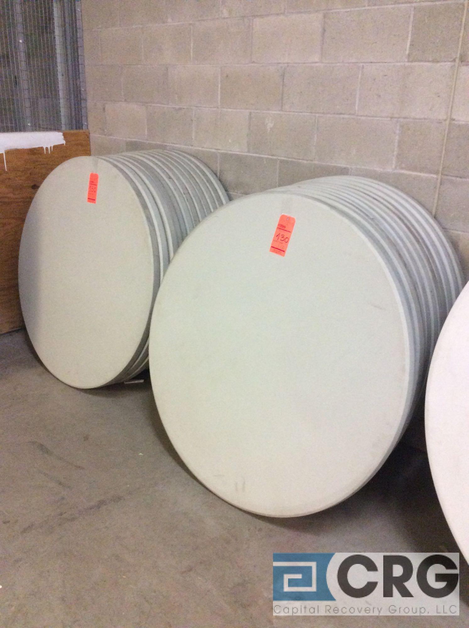 "Lot 130 - Lot of (20) assorted 48"" diameter folding leg resin top tables."