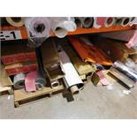 LOT: Assorted Cardboard & Rolls of Material (on pallet rack - contents only)