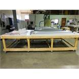 13.5 ft. x 75 in. x 3 ft. Rolling Wooden Shop Table