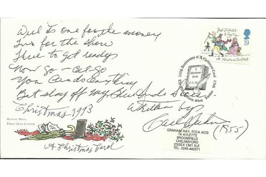 Christmas Shoes Lyrics.Carl Perkins Signed Blue Suede Shoes Lyrics Handwritten By
