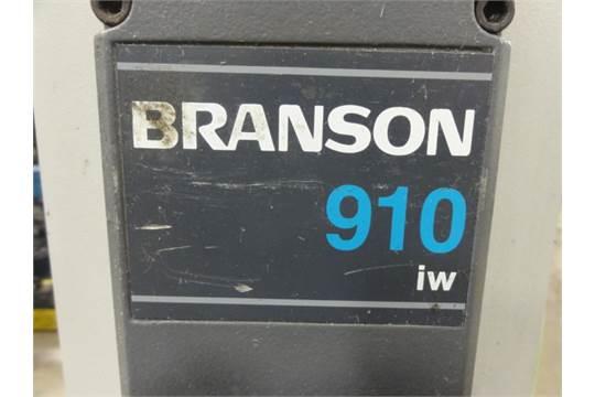 branson model 910iw ultrasonic welder w welding horn adjustable rh bidspotter com branson 910 iw ultrasonic welder manual