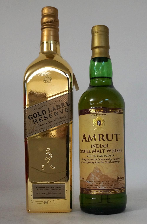 Johnnie Walker Gold Label Reserve Bullion Amrut Indian