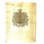 An original copy of 'The Sun' Gold edition London newspaper commemorating Queen Victoria's