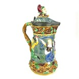 A 19th century Minton Majolica Tower ewer.