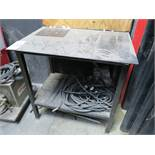 "WELDING TABLE, 34"" X 24"" X 3/8"" THICK"