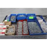 Large quantity of pop rivets, bins included
