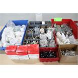 Locks, zinc wing nuts and holding magnets, bins included