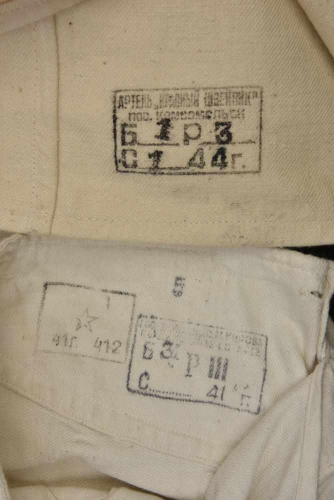 Bidon M.31 daté 1931 avec étui suspendu en toile khaki. Cette pièce provient de la collection - Bild 2 aus 4
