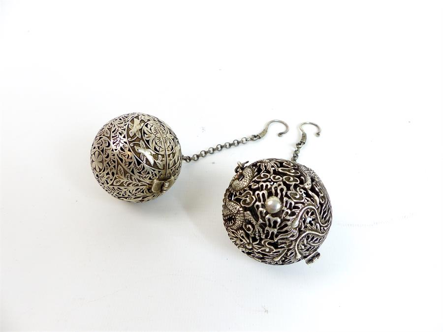 Lot 16 - Two Chinese Gyroscope Balls