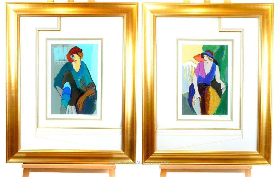 Lot 61 - A pair of professionally framed and mounted, Art Deco style prints