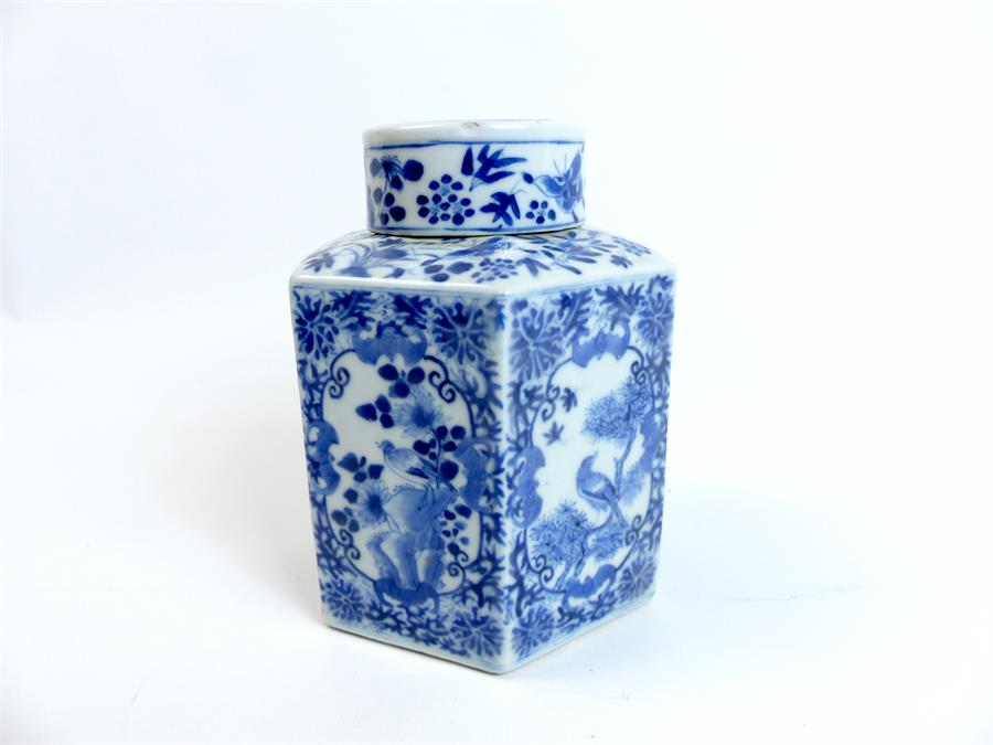 Lot 52 - Chinese Porcelain Teacaddy