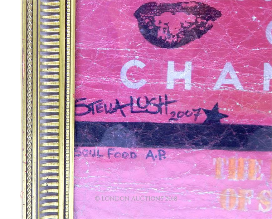 Lot 1 - Stella Lush, (contemporary), large, hand-printed, foil, artwork of Marilyn Monroe
