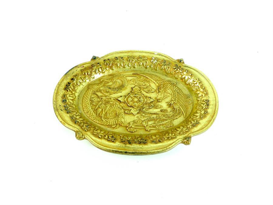 Lot 42 - Chinese Gold Dish