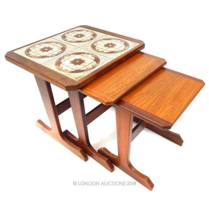 Lot 6 - A set of three, G-plan, teak, nest of tables