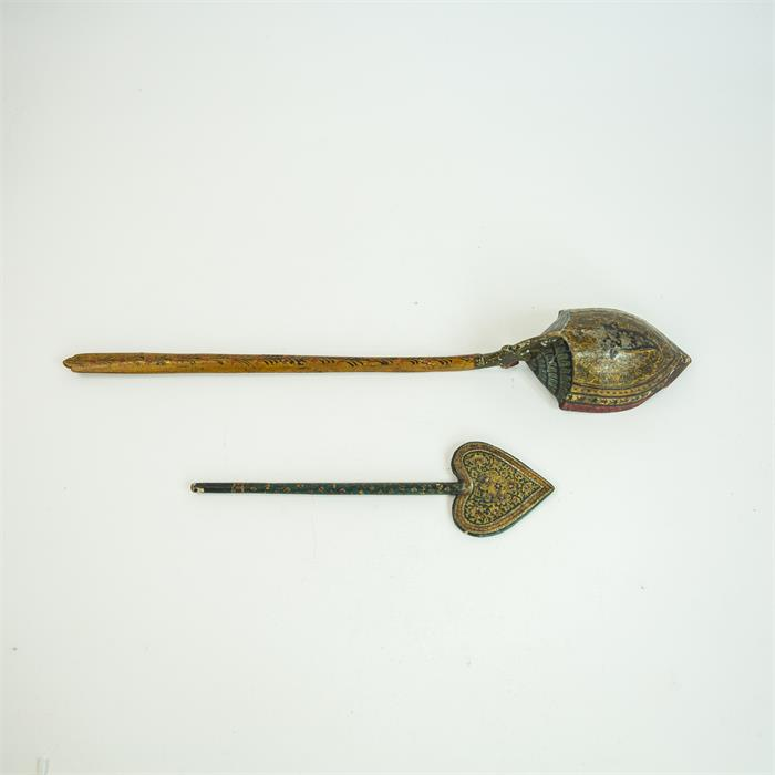 Lot 27 - Persian Safavia Period and Heart shaped Ladles