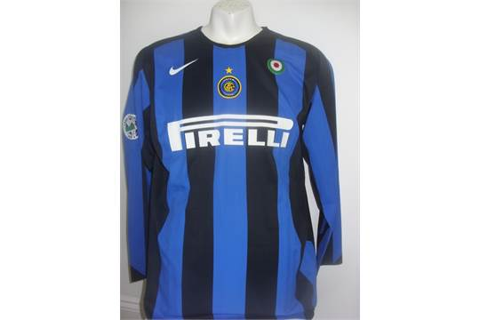 quality design 02ac7 81cd6 Luis Figo Inter Milan Match Worn Football Shirt: From 2005 ...