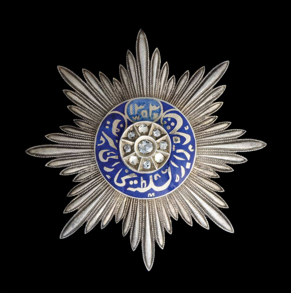 Lot 174 - EMIRATE OF BUKHARA, TEMP. SA'ID 'ABD AL-AHAD KHAN (AD 1886-1910), Order of Noble Bukhara, Breast