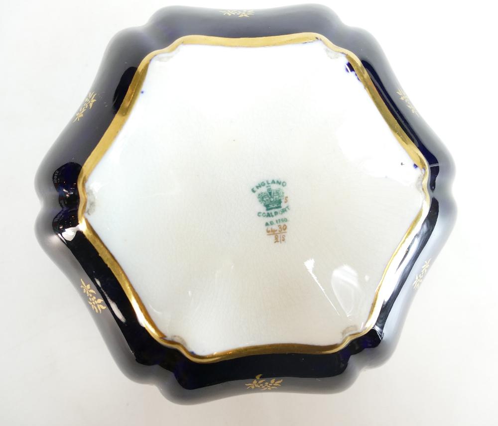 Lot 127 - Coalport shaped box & cover gilded & han